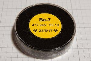 Beryllium-7 from rainwater